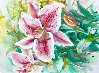Painting - Watercolor Series 89 by Ingrid Dohm