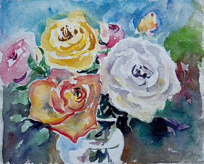 Painting - Watercolor Series 99 by Ingrid Dohm