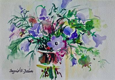 Painting - Watercolor Series No. 239 by Ingrid Dohm