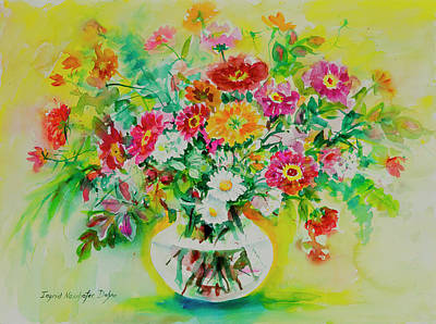 Painting - Watercolor Seris 184 by Ingrid Dohm