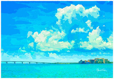 Watercolor Spring On Sarasota Bay Art Print