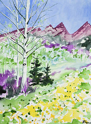 Watercolor - Springtime In The Rocky Mountains Original