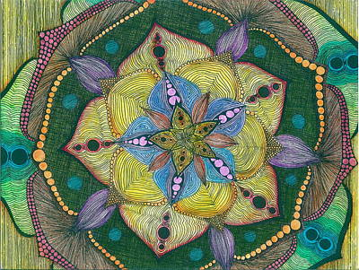 Drawing - Watercolor Starburst by Michele Bullock