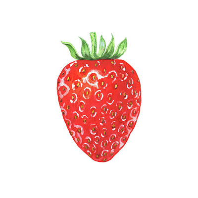 Painting - Watercolor Strawberry  by Irina Sztukowski