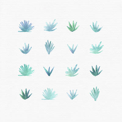 Painting - Watercolor Succulents by Kristian Gallagher