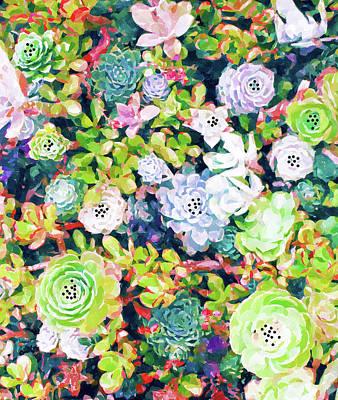 Digital Art - Watercolor Succulents by Uma Gokhale