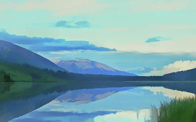 Photograph - Watercolor Summit Lake Alaska by Aimee L Maher Photography and Art Visit ALMGallerydotcom