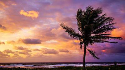 Photograph - Watercolor Sunrise Delray Beach Florida by Lawrence S Richardson Jr