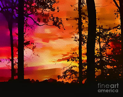 Photograph - Watercolor Sunrise by Judi Bagwell