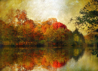 Autumn Landscape Digital Art - Watercolor Sunset by Jessica Jenney