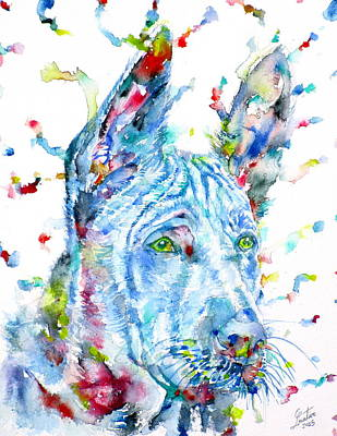 Painting - Watercolor Thai Ridgeback by Fabrizio Cassetta