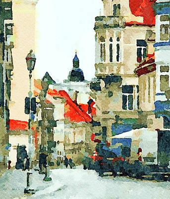 Digital Art - Watercolor Town by Yury Malkov