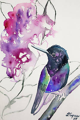 Painting - Watercolor - Velvet Purple Coronet by Cascade Colors