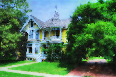 Photograph - Watercolor Victorian House by Anna Louise