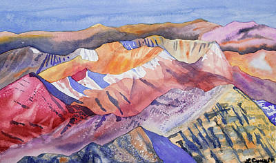 Painting - Watercolor - View From Atop Castle Peak by Cascade Colors