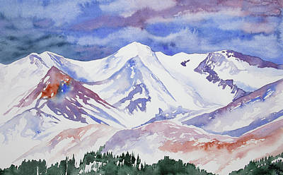 Painting - Watercolor - View From Trail Ridge Road by Cascade Colors