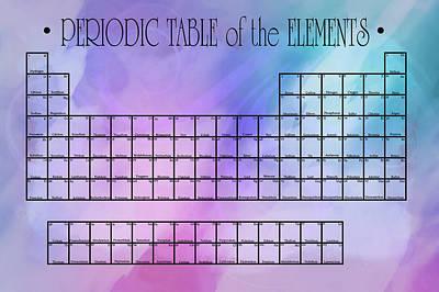 Lab Digital Art - Watercolor Wash Periodic Table by Daniel Hagerman