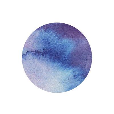 Painting - Watercolor Wash Vibrant Blue Circle  by Irina Sztukowski