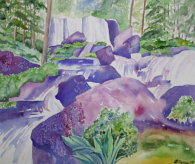 Painting - Watercolor - Waterfall In The San Juans by Cascade Colors