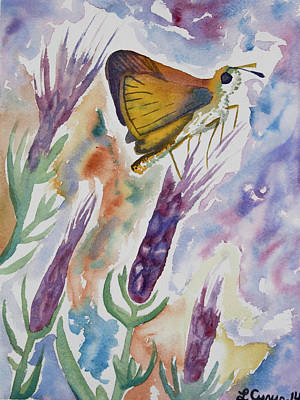 Animal Portraits - Watercolor - Whimsical Butterfly by Cascade Colors