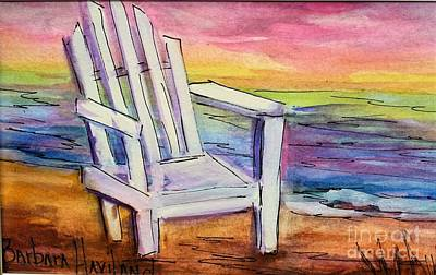 Painting - Watercolor White Chair by Barbara Haviland