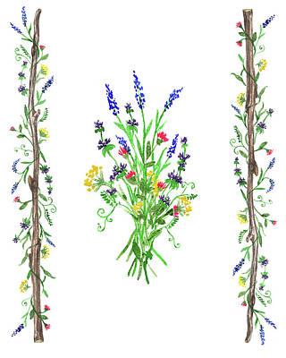 Painting - Watercolor Wild Flowers by Irina Sztukowski