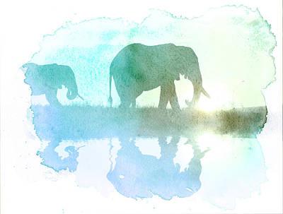 Digital Art - Watercolor Wildlife by The DigArtisT