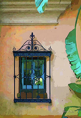 Photograph - Watercolor Window by Susan Molnar