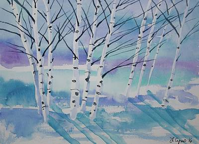 Painting - Watercolor - Winter Birch by Cascade Colors