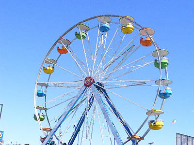 Photograph - Watercolored Ferris Wheel by Margie Avellino