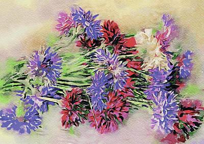 Digital Art - Watercolored Flowers by Yury Malkov