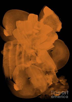 Isolated On Black Background Digital Art - Watercolour Abstract 5 by Prar Kulasekara