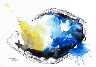 Photograph - Fish Watercolor by Tara Thelen