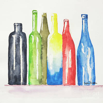 Reflections On Bottle Painting - Watercolour Bottles 2 by Sophie McAulay