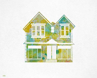 Watercolour House Art Print