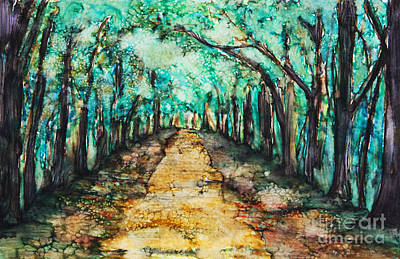 Photograph -  Path Lined With Trees by Tara Thelen