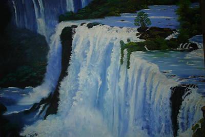 Painting - Waterfall - Foz Do Iguacu by Shanta Rathie