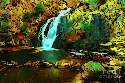 Photograph - Waterfall 17018-1 by Ray Shrewsberry