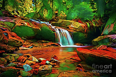 Photograph - Waterfall 17018-2 by Ray Shrewsberry