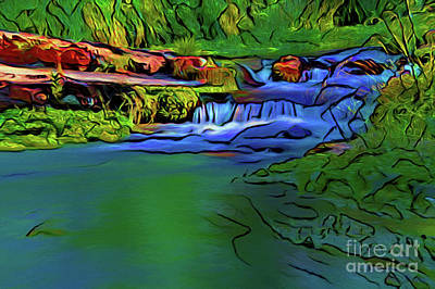 Photograph - Waterfall 17018-3 by Ray Shrewsberry