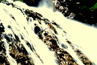 Waterfall 2 Art Print by Angelika Heidemann
