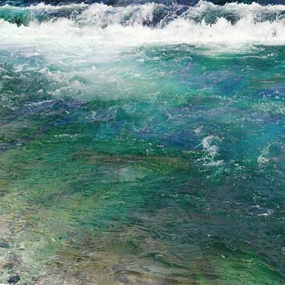 Abstract Seascape Digital Art - Waterfall 2 by Filippo B