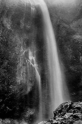 Photograph - Waterfall 5830 B/w by Chris McKenna