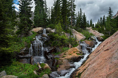 Photograph - Waterfall Above Upper Slate Lake by Michael J Bauer