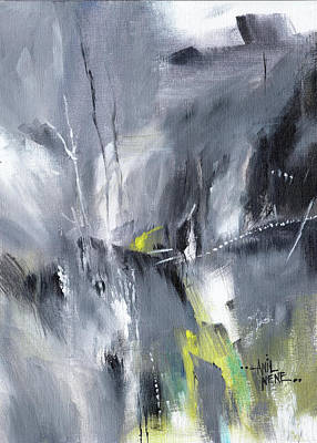 Painting - Waterfall Abstract by Anil Nene