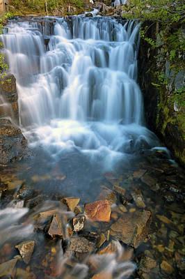 Photograph - Waterfall Along Sunbeam Creek In Mt Rainier National Park by David Gn