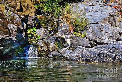 Photograph - Waterfall Along The Rogue River by Ansel Price