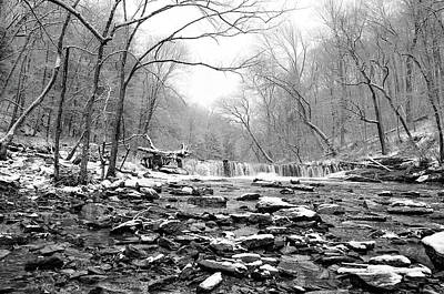Wissahickon Photograph - Waterfall Along The Wissahickon In Winter by Bill Cannon