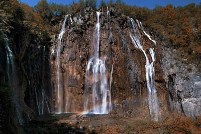 Photograph - Waterfall And A Rainbow by Jaroslaw Blaminsky