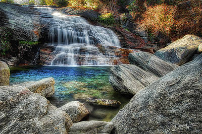 Photograph - Waterfall And Autumn Color by David A Lane